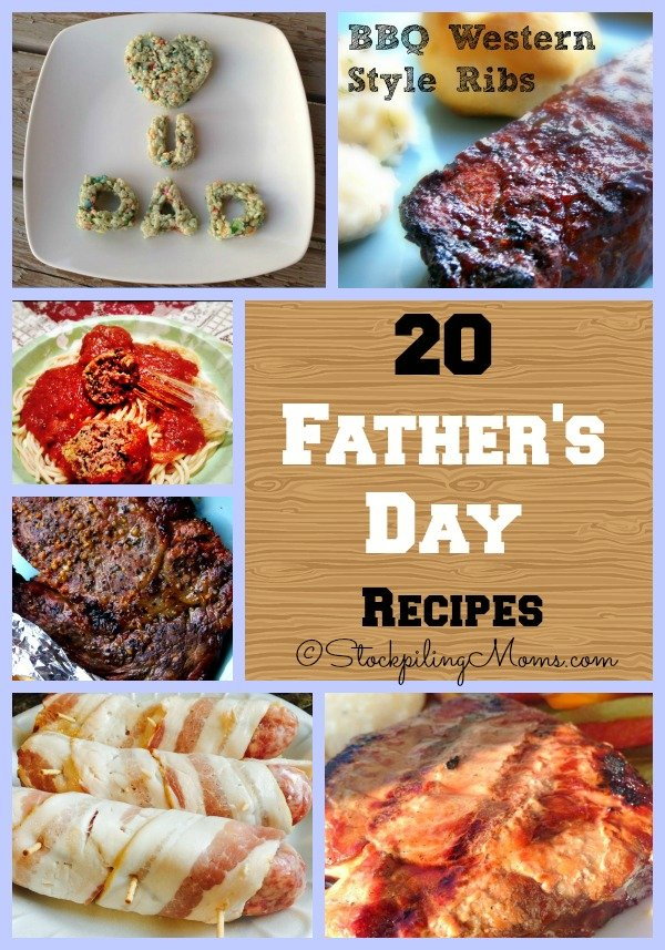 20 Father's Day Recipes that are sure to please the man/men in your life!