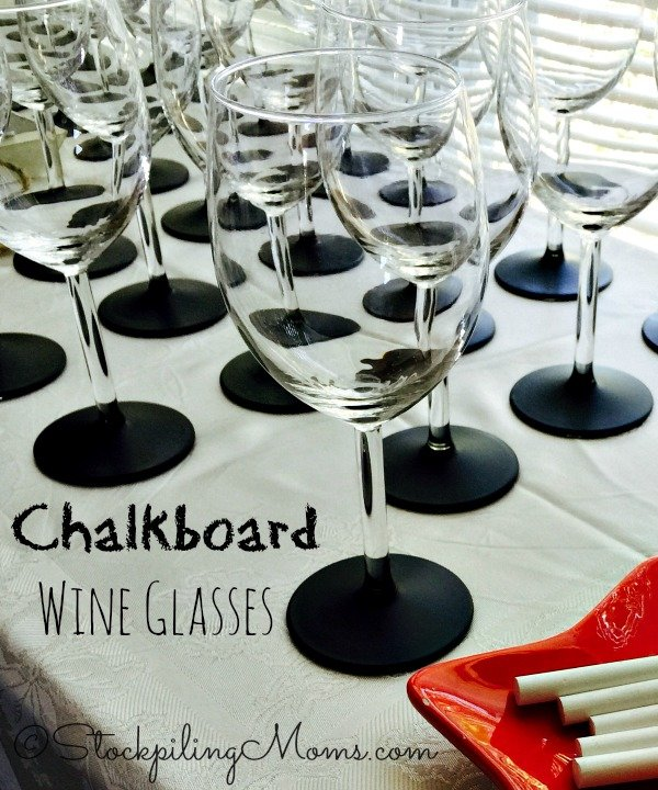 DIY Chalkboard Wine Glasses are so simple to make and make a great gift or party favor!