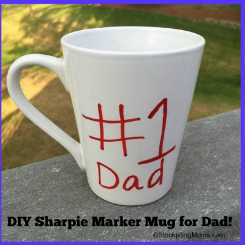 diy father s day sharpie marker mug