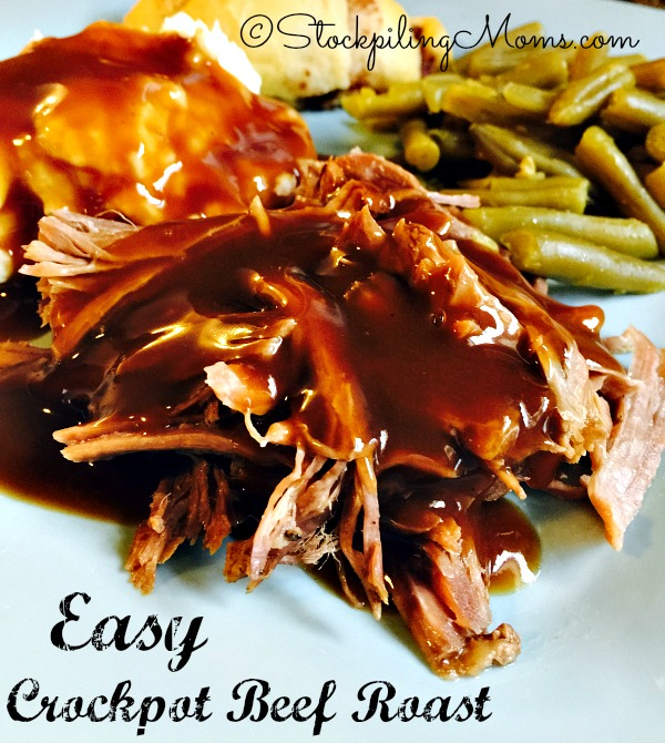 This Easy Crockpot Beef Roast recipe is the perfect staple recipe to have in your kitchen to use time and time again!