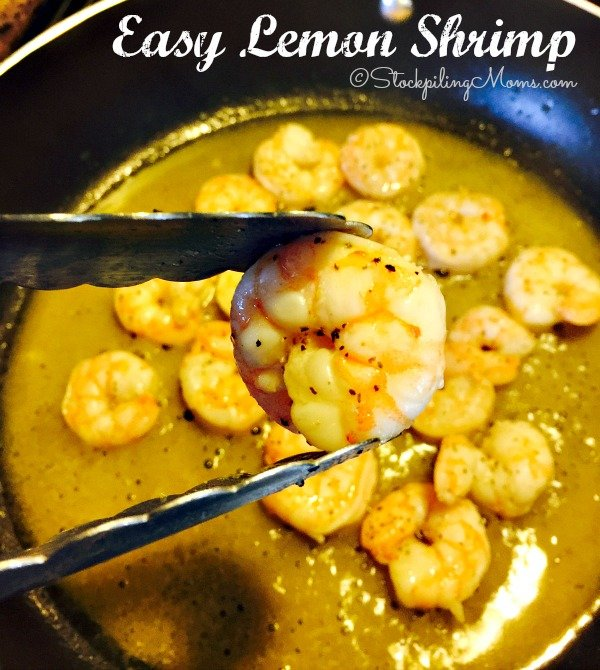 This recipe for Easy Lemon Shrimp can be prepared in 15 minutes!