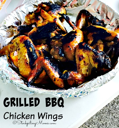 Grilled BBQ Chicken Wings are perfect for a summer dinner!
