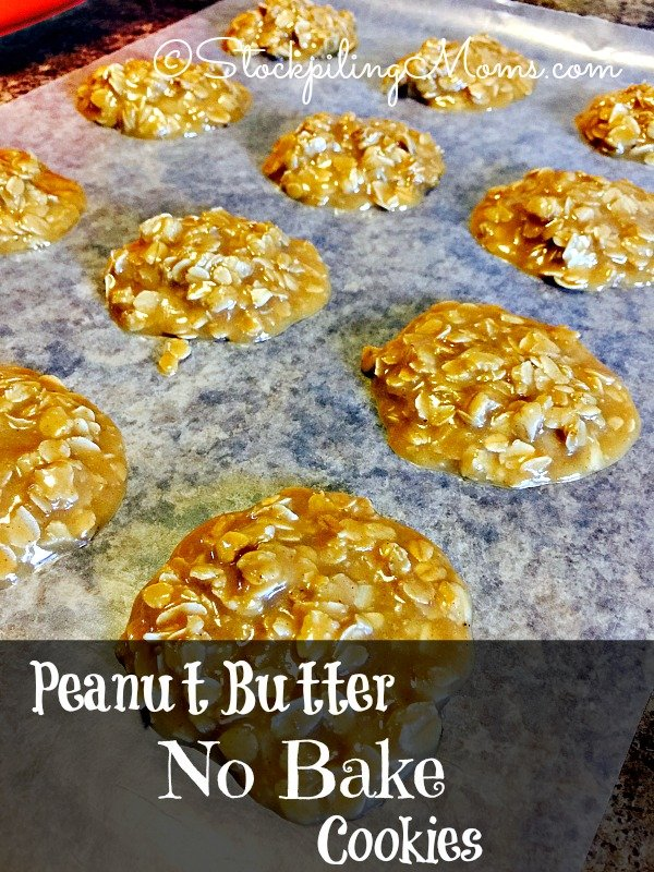 These delicious Peanut Butter No Bake Cookies are super easy to make!