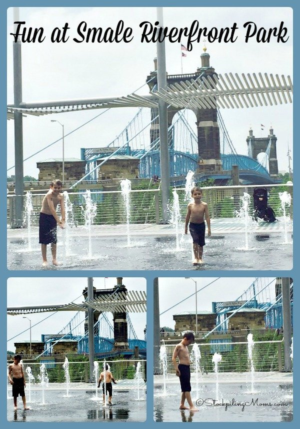 Smale Riverfront Park in downtown Cincinnati is perfect for family fun!