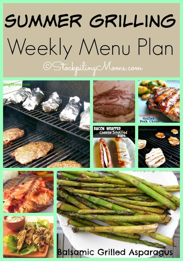 Summer Grilling Weekly Menu Plan