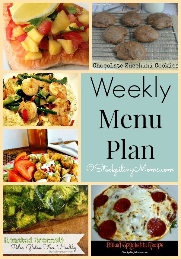 Here's our Weekly Menu Plan to help save us time and money in the kitchen!