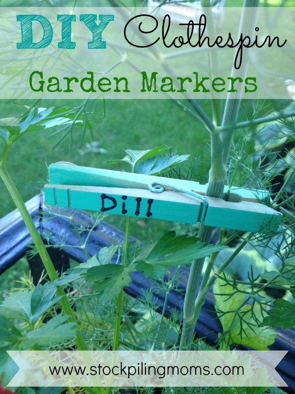 DIY Clothespin Garden Markers - Perfect Herb Markers