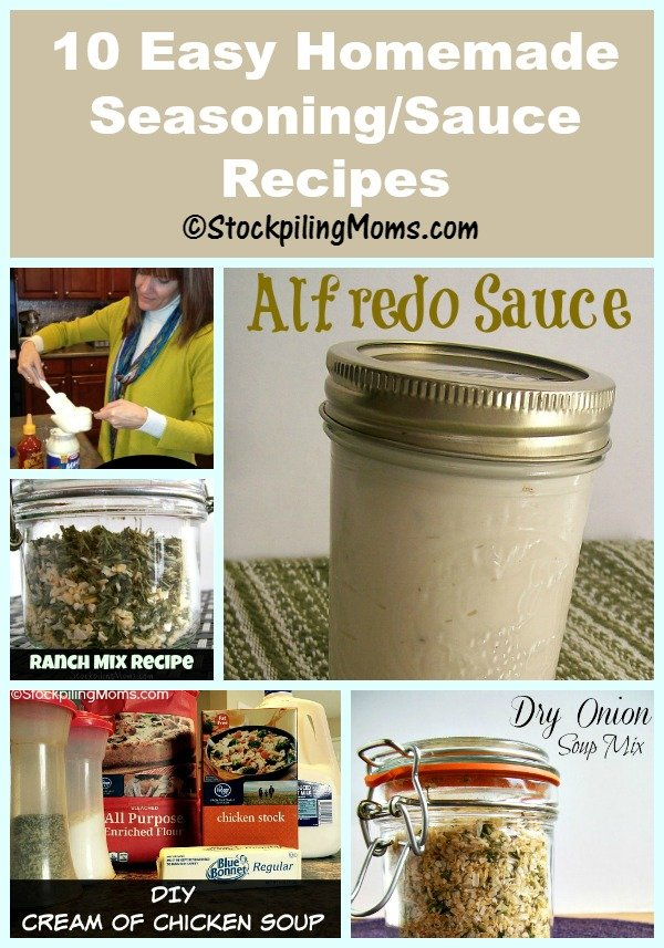 10 Easy Homemade Seasoning and Sauce Recipes that are budget friendly and healthier!