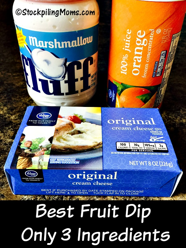 This is the Best Fruit Dip with Only 3 Ingredients needed! Perfect for barbecues, parties and family gatherings.