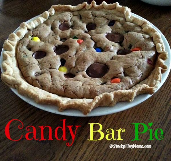The recipe for Candy Bar Pie is delicious and the best dessert ever! Perfect to make with leftover Halloween Candy!