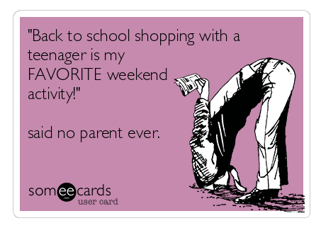 Back-To-School Shopping Funny