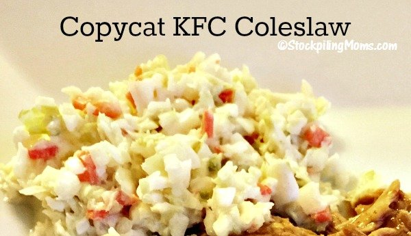 This Copycat KFC Coleslaw recipe tastes just like the real thing and you can make it in as little as 15 minutes!