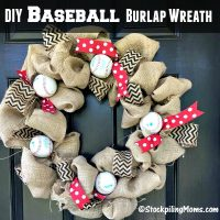 DIY Baseball Burlap Wreath