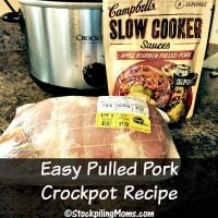 Easy Pulled Pork Crockpot Recipe