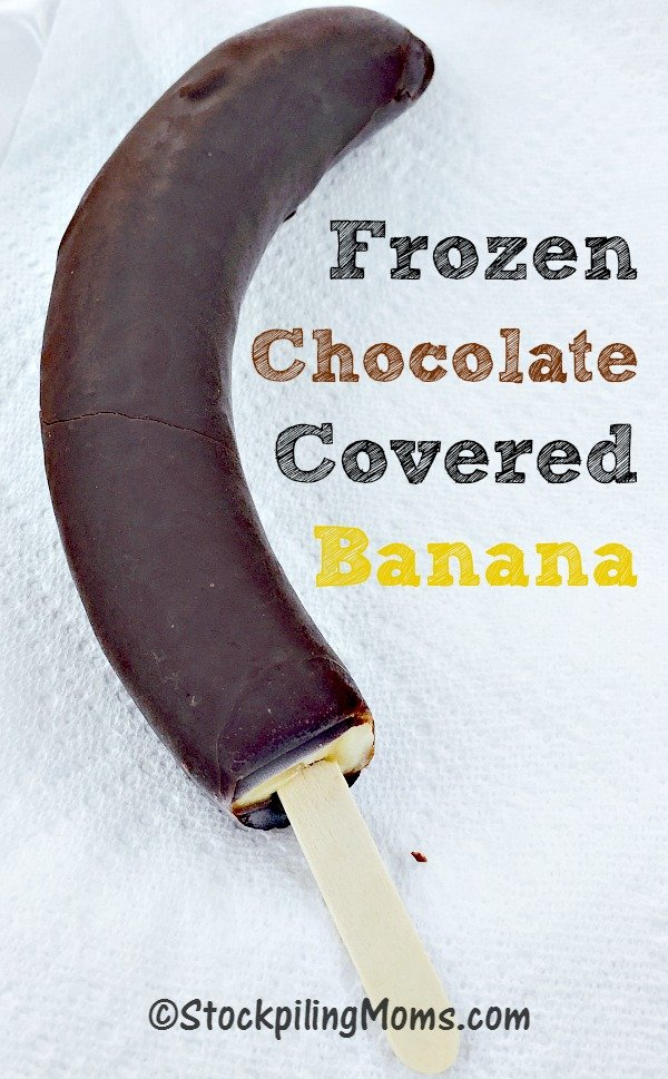 Frozen Chocolate Covered Bananas are so easy to make with only 4 ...