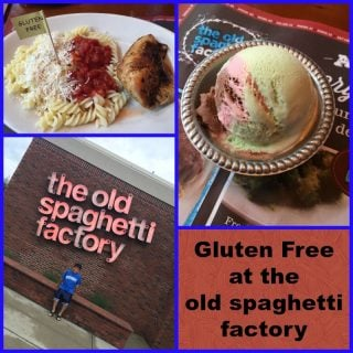 Gluten Free Menu at the Old Spaghetti Factory