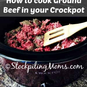 How to cook Ground Beef in your Crockpot