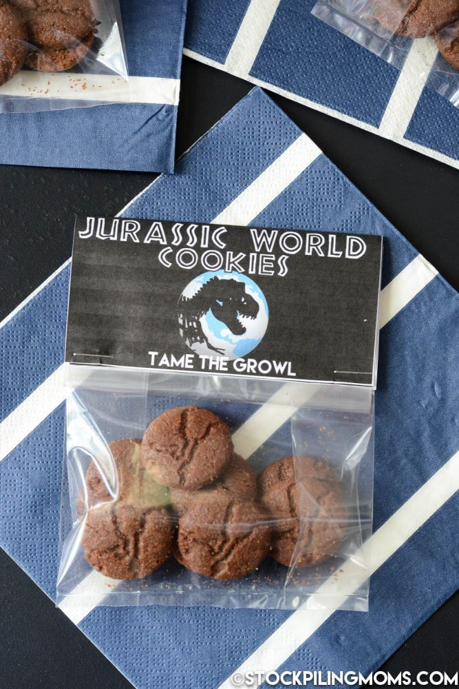Jurassic World Cookies - Tame the Growl with this Yummy Snack!