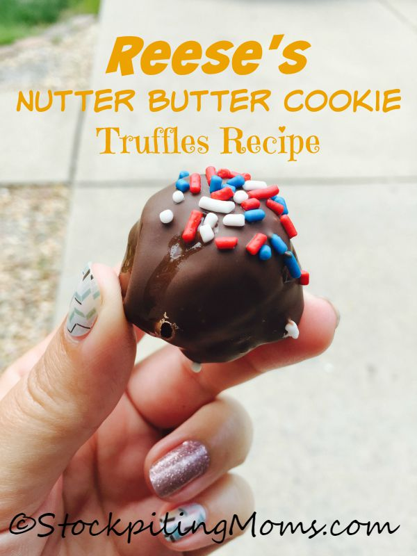 Reese's Nutter Butter Cookie Truffles Recipe is out of this world amazing!  Plus you only need  5 ingredients to make them.