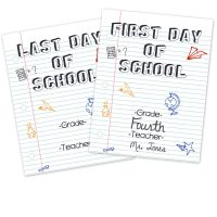 Last Day and First Day of School Printable Signs