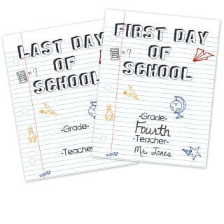 Free First Day and Last Day of School Printable Signs