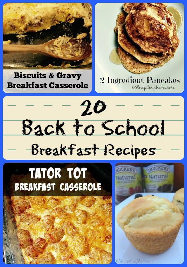 20 Back to School Breakfast Recipes that are easy to make!
