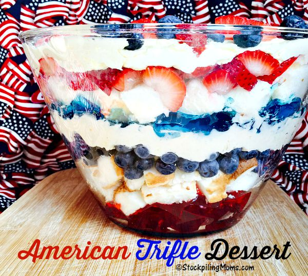 American Trifle Dessert is the PERFECT dessert for Labor Day!