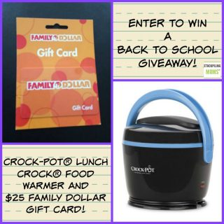 Back-To-School Giveaway – Crock-Pot Lunch Crock & $25 Family Dollar Gift Card – CLOSED