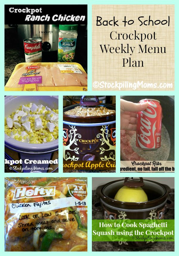 Here's another Back to School Crockpot Weekly Menu Plan to help get back in to the swing of things!