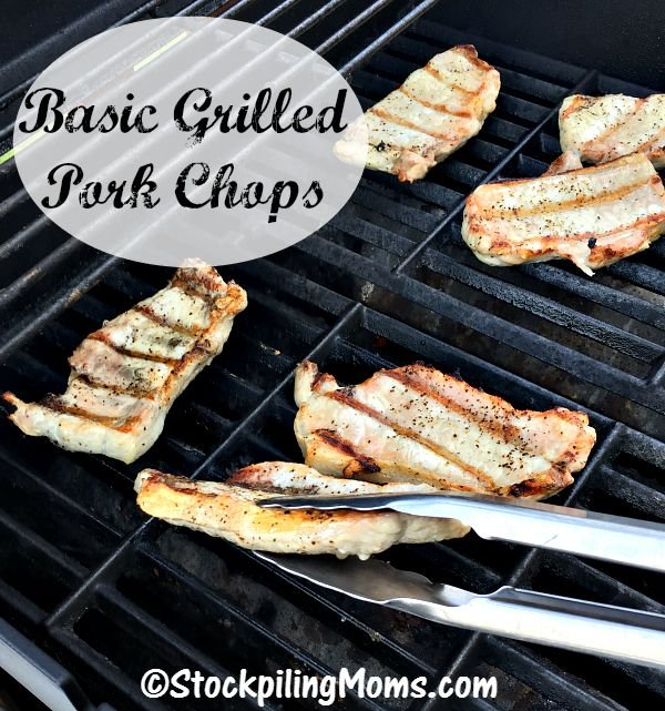 Basic Grilled Pork Chops are perfect for grilling with only 2 ingredients!