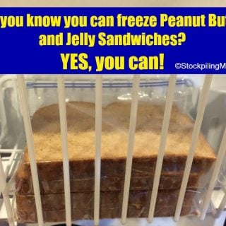 How to freeze a Peanut Butter and Jelly Sandwich