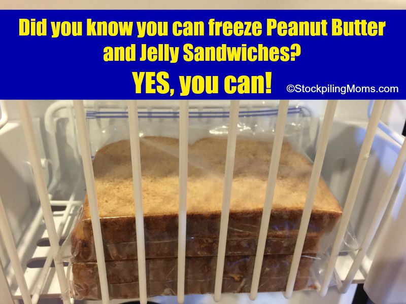 Did you know you can freeze Peanut Butter and Jelly Sandwiches
