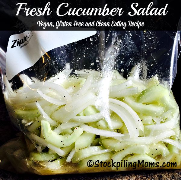 This vegan, gluten free and clean eating Fresh Cucumber Salad recipe tastes amazing!