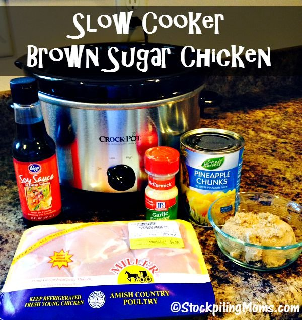 Slow Cooker Brown Sugar Chicken recipe taste amazing and is easy to prepare with a handful of easy ingredients!