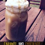 Caramel and Chocolate Almond Iced Coffee