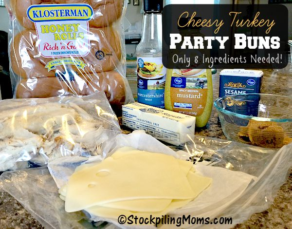 Cheesy Turkey Party Buns are a great way to use leftover turkey and make a delicious dinner!