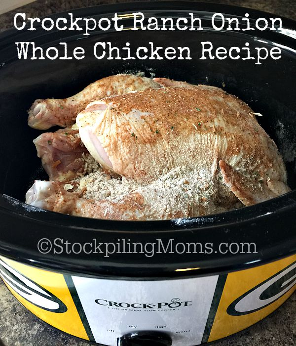 Crockpot Ranch Onion Whole Chicken Recipe3
