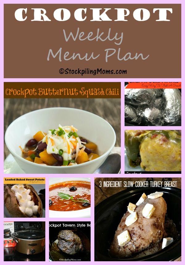 By creating a Crockpot Weekly Menu Plan I am able to save time and money for my family!