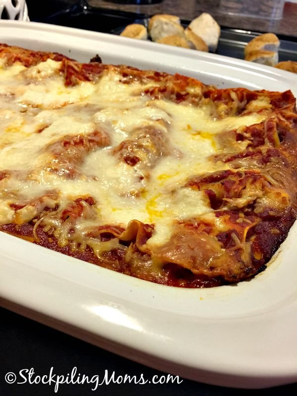 Easy Crockpot Lasagna is so simple to make and taste delicious!