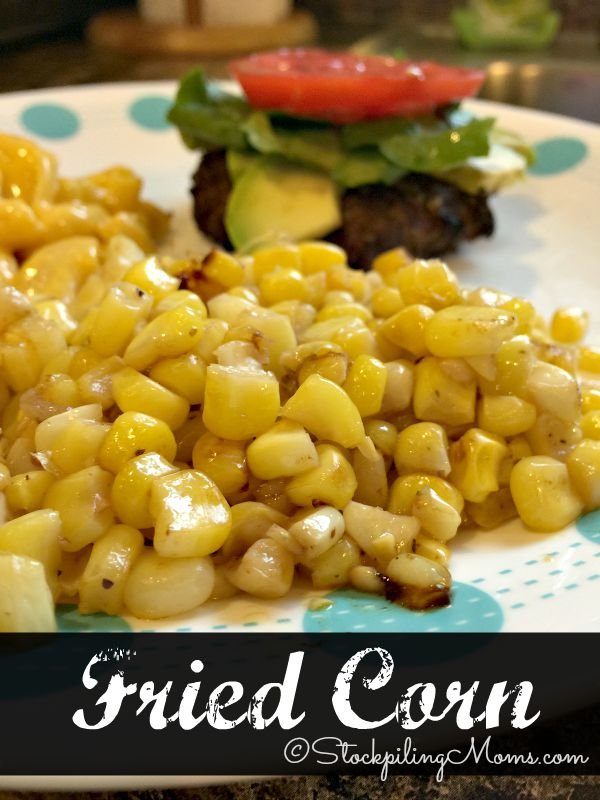 Fried Corn is so simple to make in less than 10 minutes with leftover fresh or frozen corn!