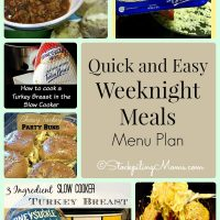 Quick and Easy Weeknight Meals Menu Plan