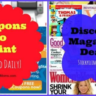 Coupons to Print & Download and Discounted Magazines of the Day!
