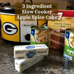 3 Ingredient Slow Cooker Apple Spice Cake