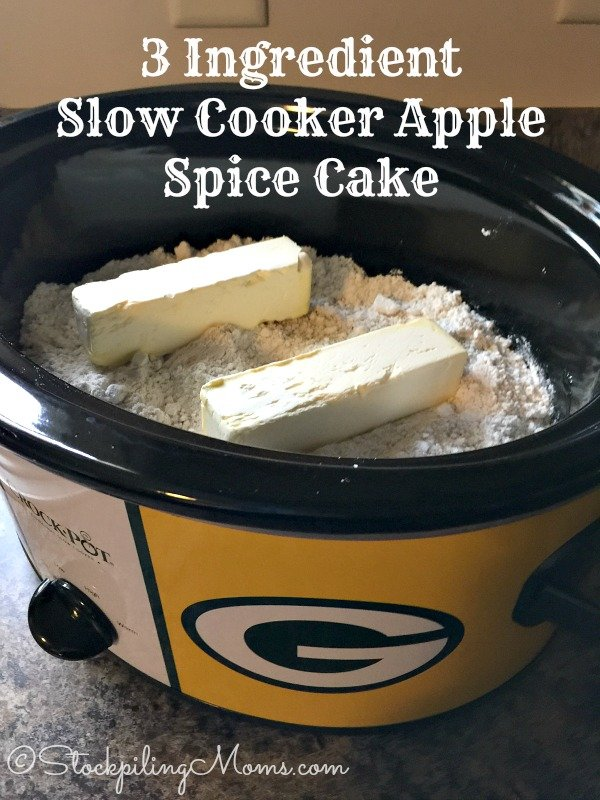 Ingredient Slow Cooker Apple Spice Cake is the BEST crockpot dessert ...