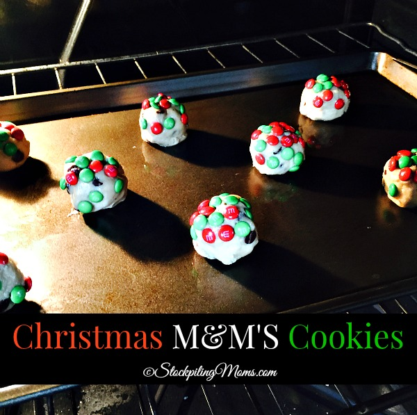 Christmas M&M'S Cookies are so easy to make for the Holiday season!