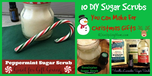 10 DIY Sugar Scrubs You Can Make For Christmas Gifts this holiday season!