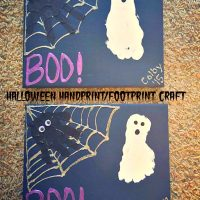 Halloween Handprint and Footprint Craft