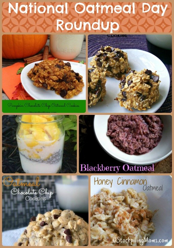 National Oatmeal Day - Celebrate with these delicious recipes made with oatmeal
