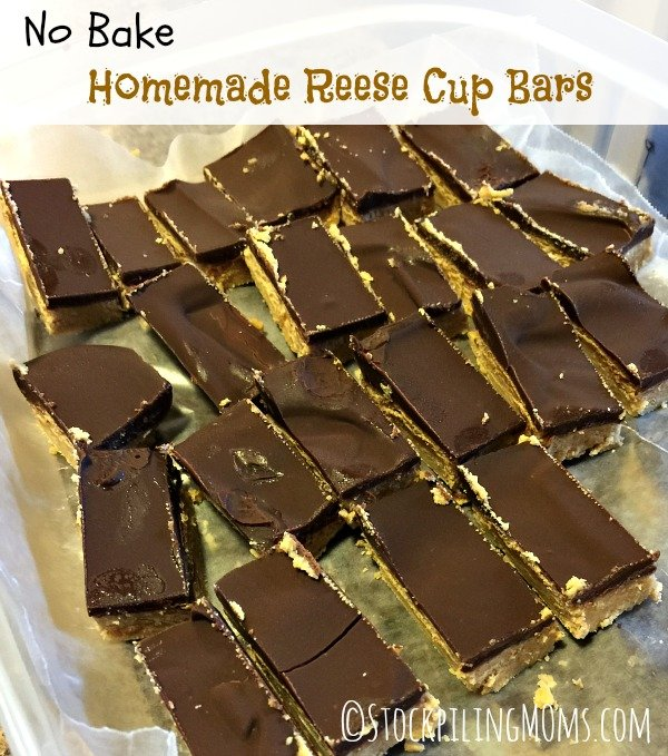No Bake Homemade Reese Cup Bars1