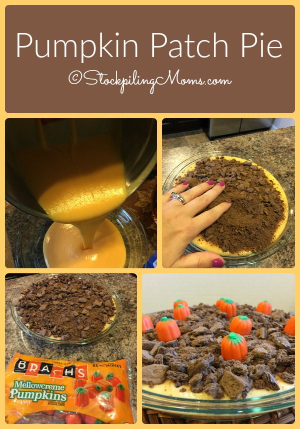 Pumpkin Patch Pie is a fun festive easy dessert recipe you can make in less than 10 minutes!